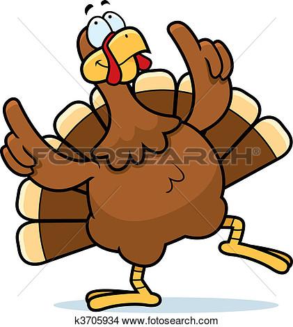 421x470 Dancing Turkey Free Clipart
