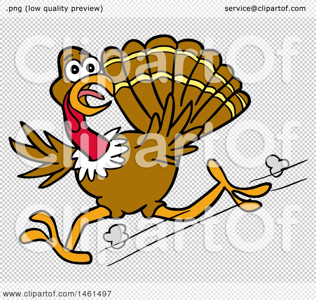1080x1024 Clipart Of A Cartoon Scared Turkey Running And Looking Back