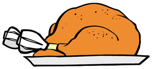 300x135 Roast Chicken Dinner Clipart