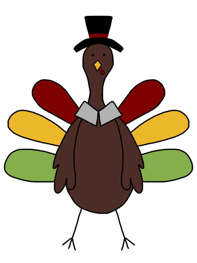 768x1024 Turkey Black And White Clip Art Images