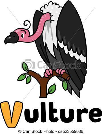 357x470 Funny Vulture, Illustration For Abc. Children Vector Vectors