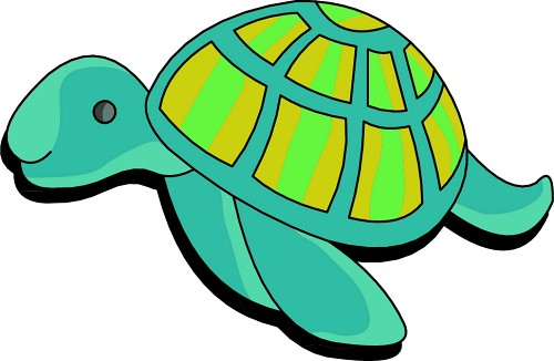 500x326 Collection Of Turtle Clipart Transparent Background High
