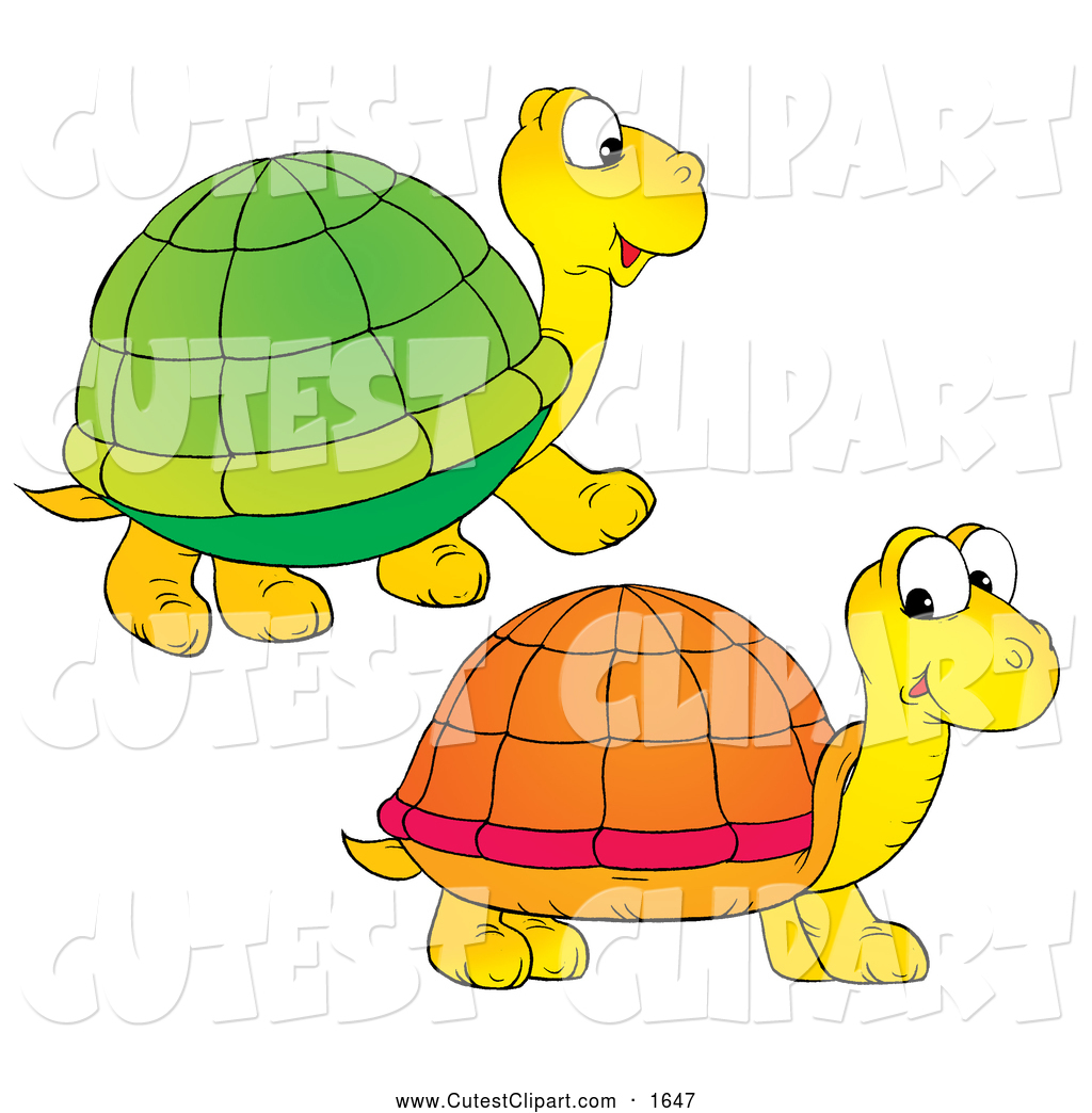 1024x1044 Clip Art Of Two Yellow Turtles With Matching Green And Orange
