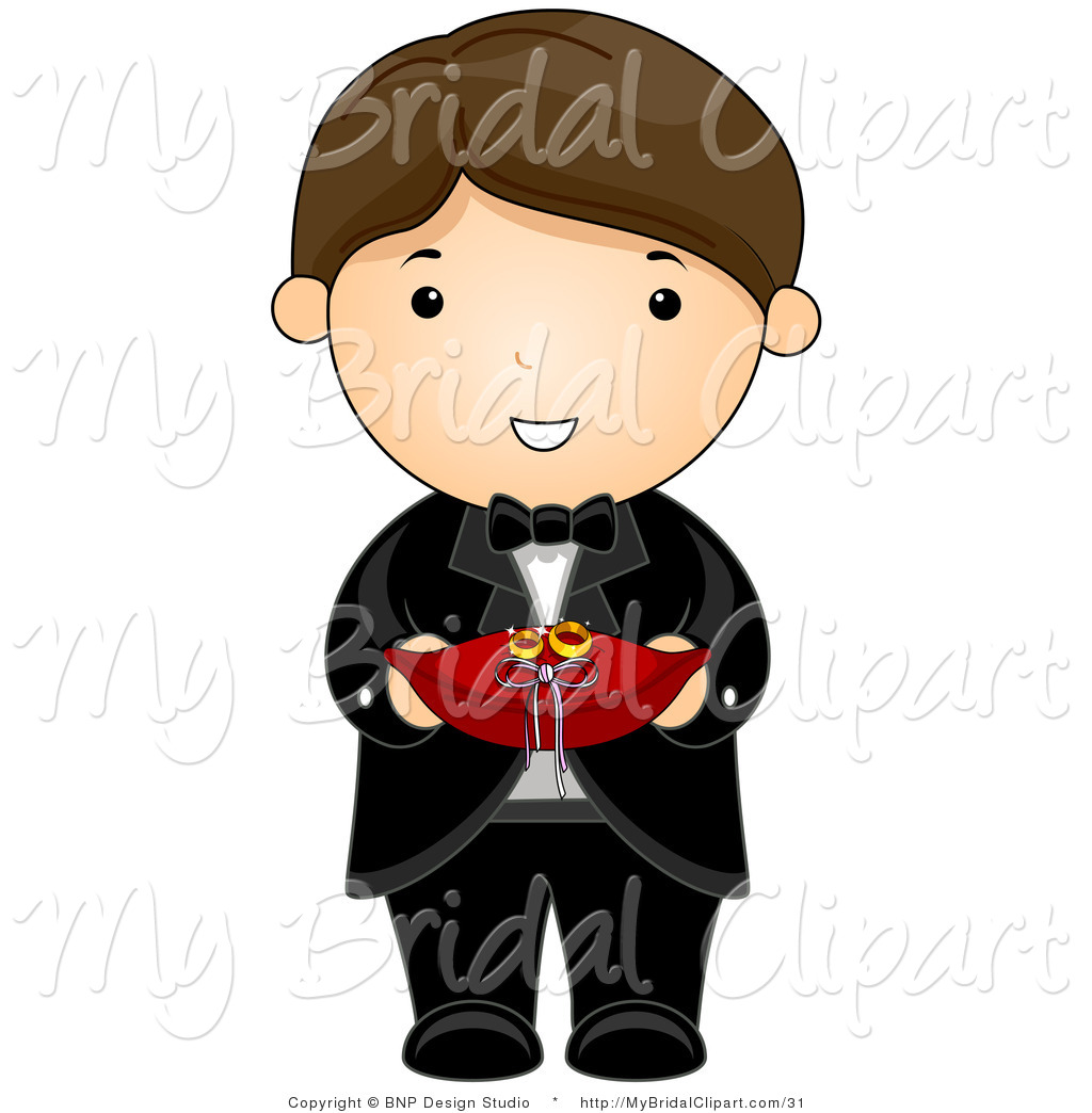 1024x1044 Bridal Clipart Of Brown Haired Wedding Ring Bearer Boy In
