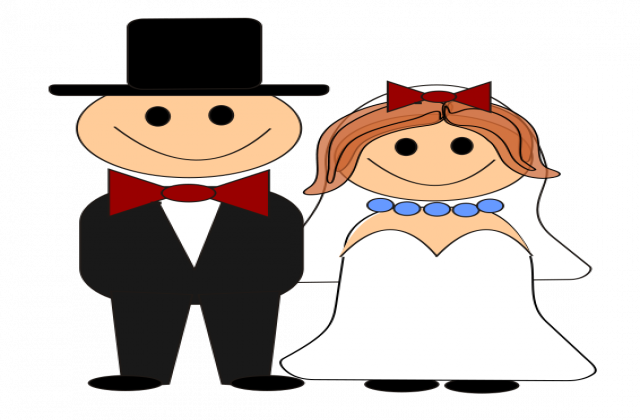 640x420 Bride And Groom Clipart 0 Bride Clip Art Free Image 3
