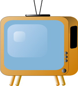 270x297 Old Styled Tv Set Clip Art