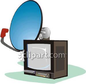 300x291 Satellite Tv Clipart