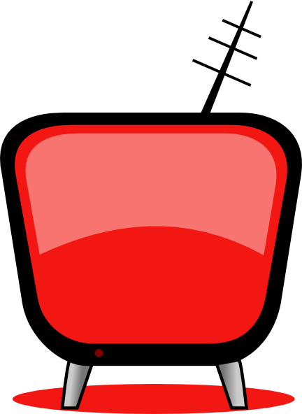 432x592 Television Clipart Red Tv