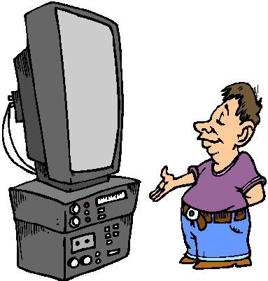 383x401 Television Clip Art 3