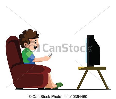 450x386 Watching Tv Clip Art Vector