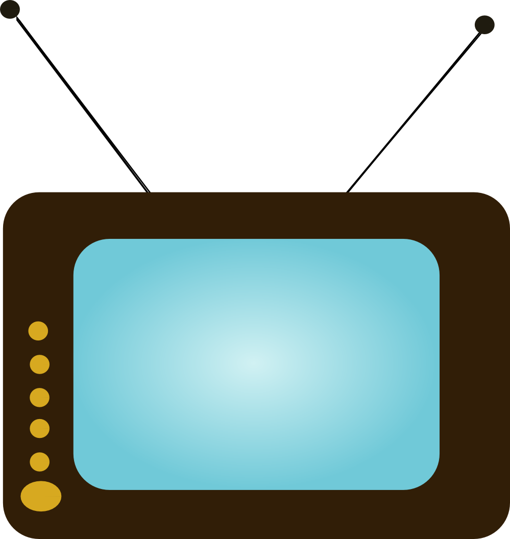 999x1056 Clip Art Tv Clipart Panda