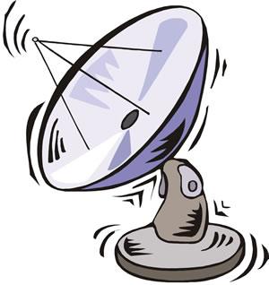 300x318 Satellite Television Cliparts 253780