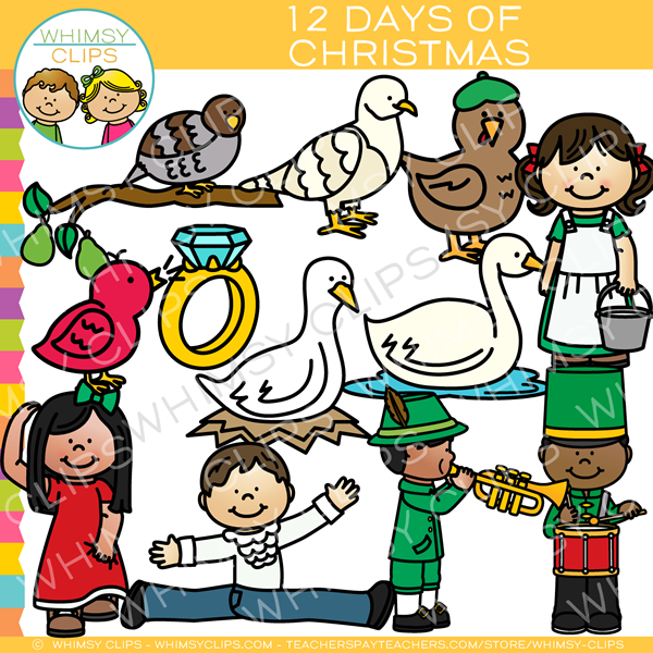 600x600 Twelve Days Of Christmas Clip Art , Images Amp Illustrations