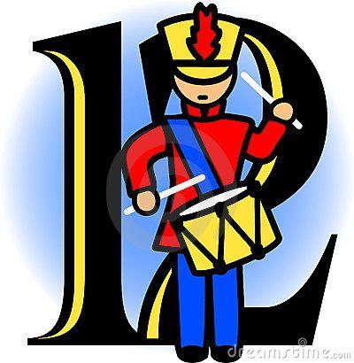 400x410 Twelve Drummers Drummingeps Royalty Free Stock Image