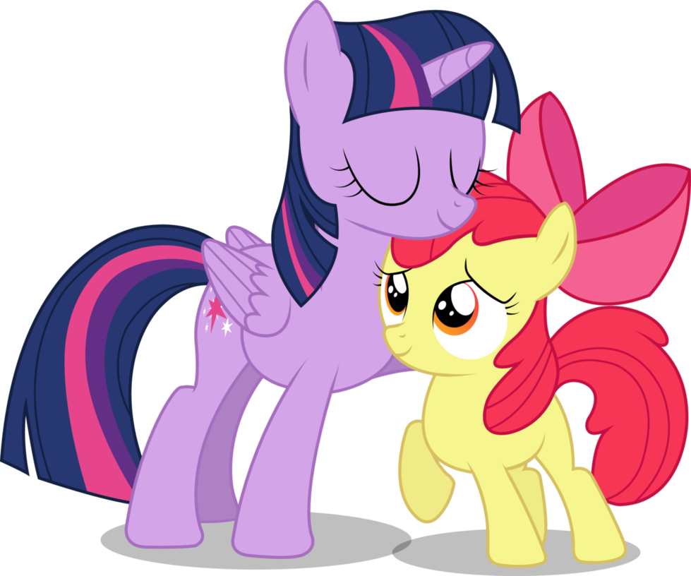 979x816 Vector Request (Twilight Sparkle + Apple Bloom) By