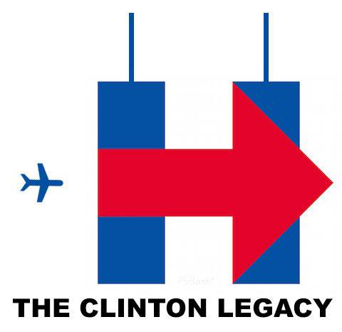 480x465 Tweeters Turn Hillary Clinton Campaign Logo Into Bizarre 911
