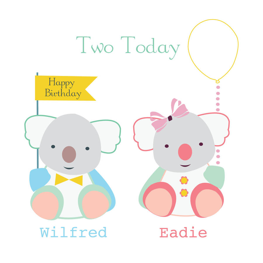 900x900 Collection Of Happy Birthday Twins Clipart High Quality