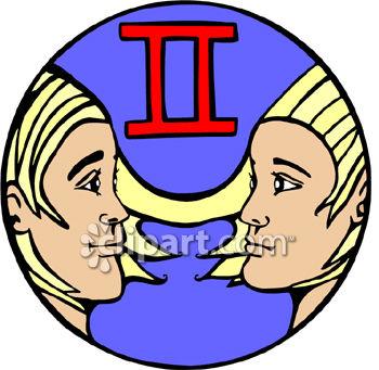 350x341 Gemini The Twins Clip Art