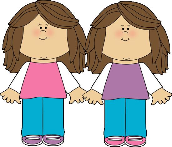 550x473 Twin Sisters Clip Art Image Scrap Books Art Images