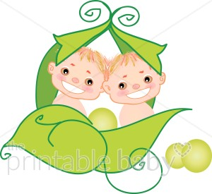 300x275 Baby Twins Clipart