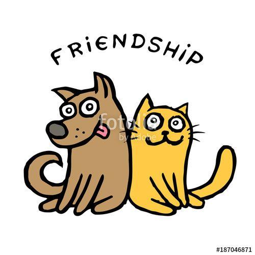 500x500 Friendship Dog Kik And Cat Tik