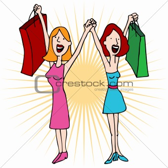 340x340 Image 3783689 Best Girl Friends Love Shopping From Crestock Stock