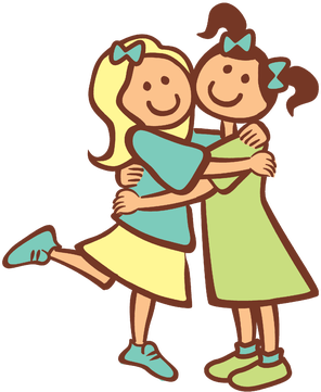 296x361 Two Friends Hugging Clipart 2 Girls Hugging As Best Friends Chip
