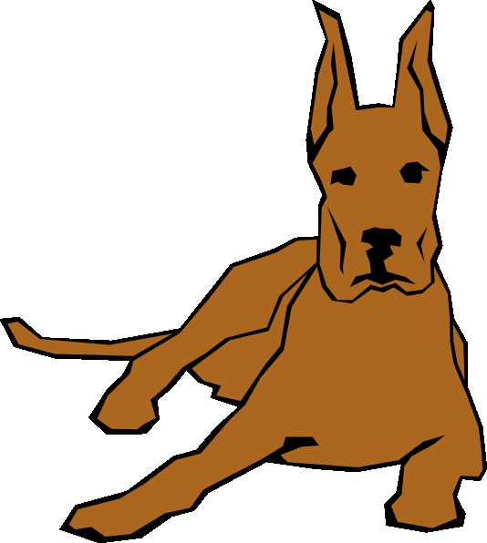 534x596 2 Dogs Clipart Kid 2