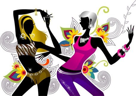456x323 Free Two Girls Dancing Clipart And Vector Graphics