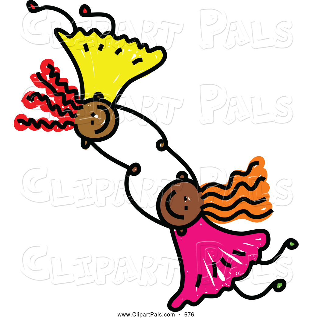 1024x1044 Pal Clipart Of A Childs Sketch Of Two Girls Holding Hands