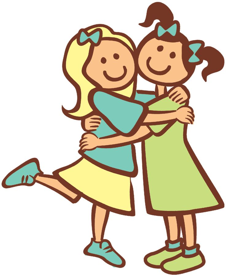 736x898 Collection Of Girls Friendship Clipart High Quality, Free