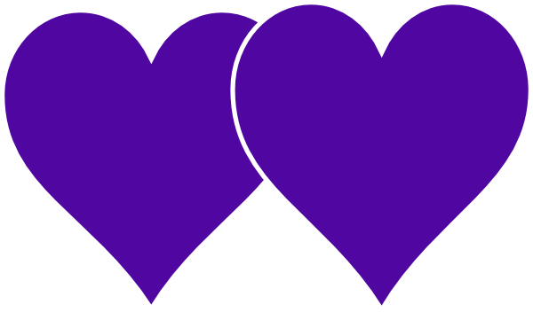 600x352 Two Hearts Lined In White Clip Art