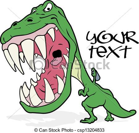 450x428 Tyrannosaurus Writing Graffiti. An Angry Tyrannosaurus Vectors