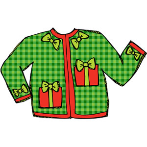 300x300 Ugly Christmas Sweater Clip Art Happy Holidays!