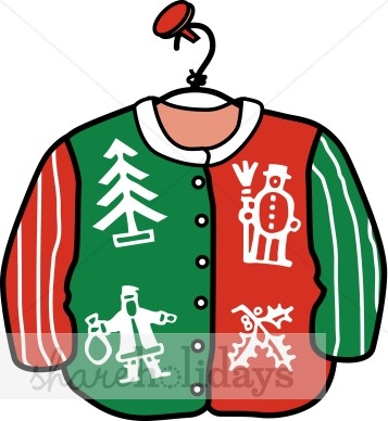 357x388 Ugly Christmas Sweater Clipart