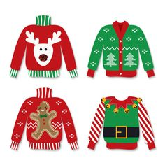 236x236 Ugly Christmas Sweater Party Clipart Outlines! Christmas Coloring