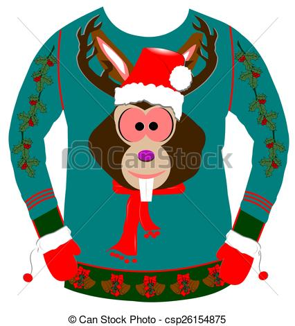 426x470 Amazing Design Ugly Christmas Sweater Clipart For Over Stock