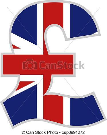 373x470 British Pound Symbol With Union Jack Flag Design Clip Art