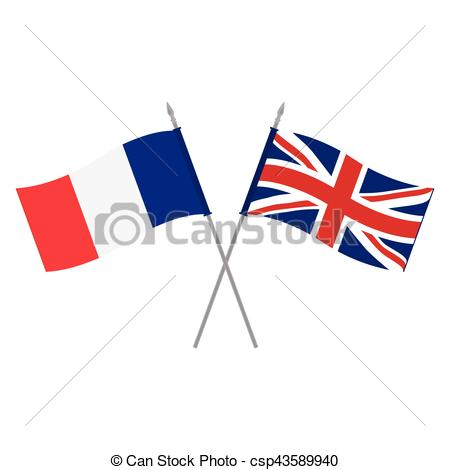 450x470 Uk And France Flags. Vector Illustration Uk And French Flag