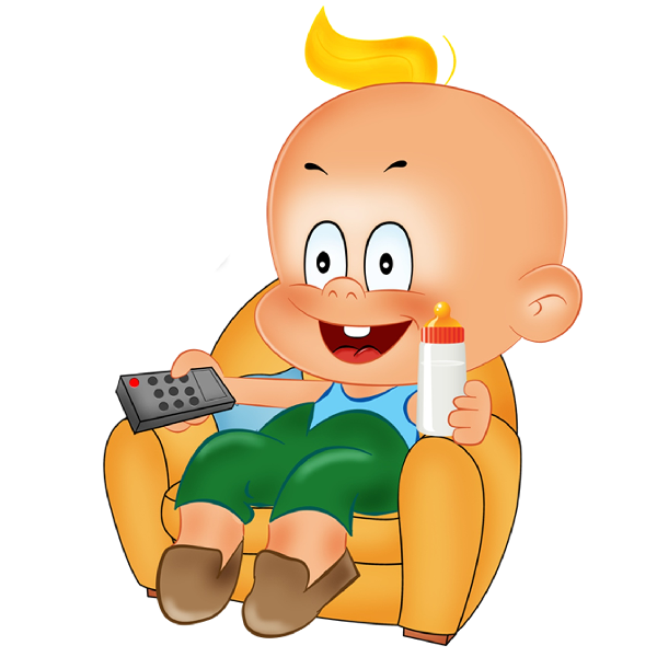 600x600 Funny Baby Boy Playing Cartoon Clipart