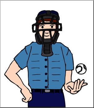 304x347 Clip Art Baseball Umpire Color I Abcteach
