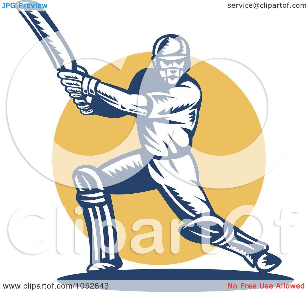 1080x1024 Royalty Free Vector Clip Art Illustration Of A Cricket Batsman