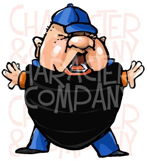 500x542 Classic Grumpy Load Baseball Umpire Clipart Karin Boris