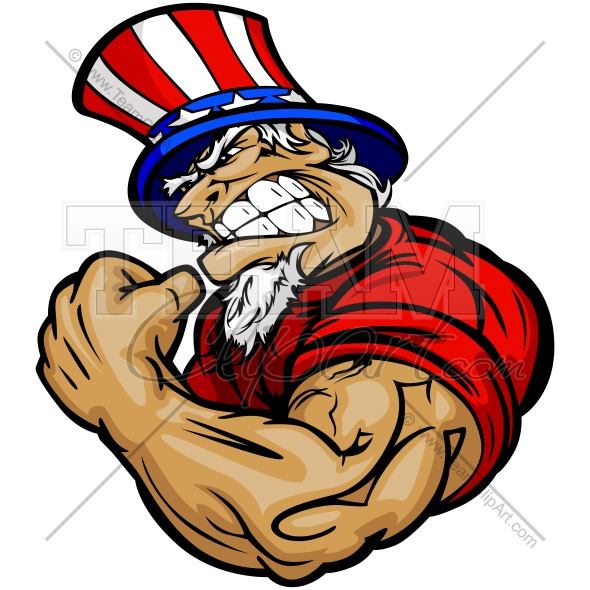 590x590 Strong Uncle Sam Clipart Image. Easy To Edit Vector Format.