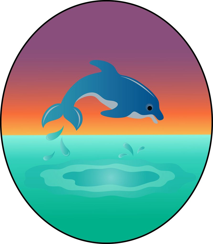 893x1024 Dolphin Clip Art Clip Art Illustration Of A Cute Dolphin Leaping