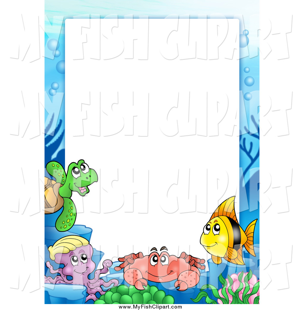 1024x1044 Collection Of Under The Sea Clipart Border High Quality
