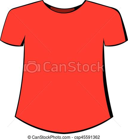 429x470 Men T Shirt Icon Cartoon. Men T Shirt Icon In Cartoon Style