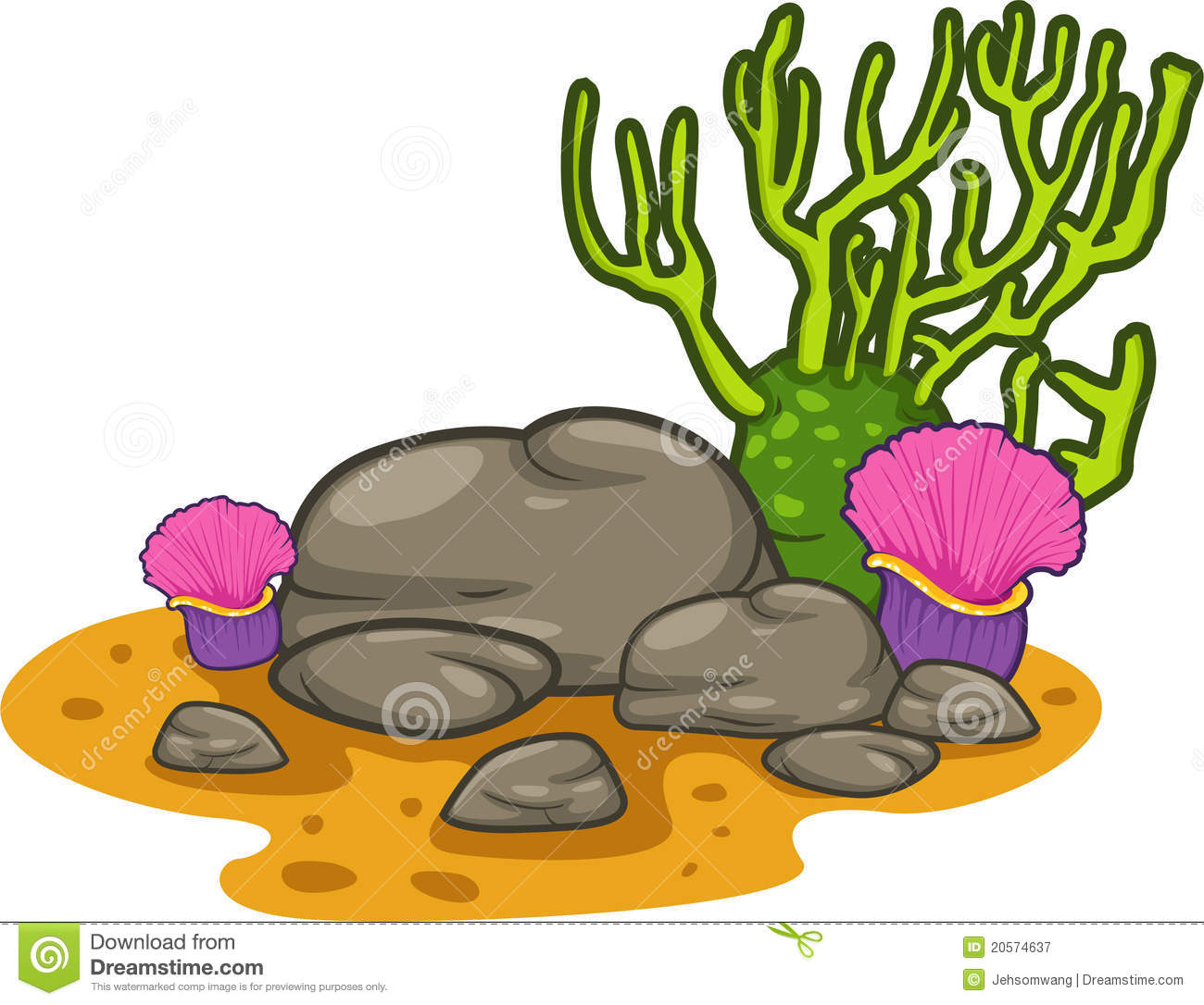 1300x1086 Stone Clipart Seaweed