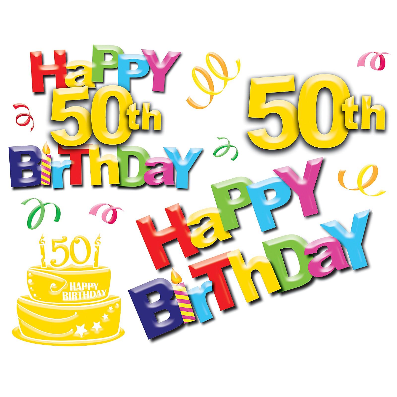 1600x1600 Happy 50 Birthday Clipart