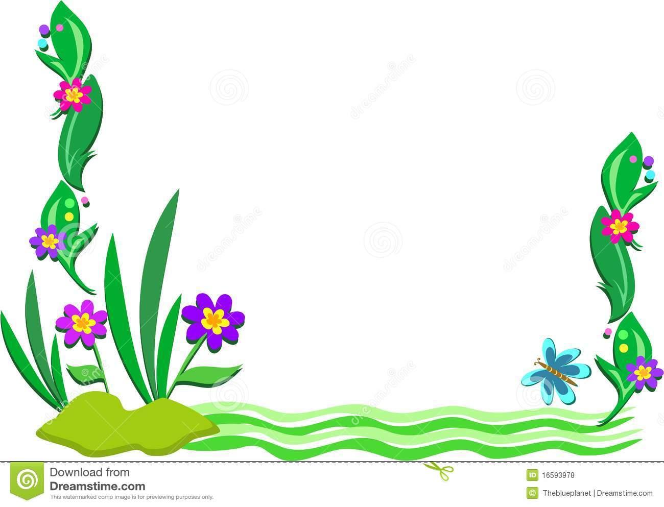 1300x993 Pond Plants Clipart